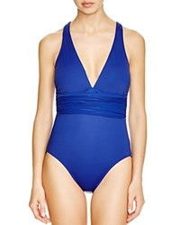 Lauren Ralph Lauren Ocean Halter One Piece Swimsuit