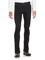 Versace Slim Fit Chino Pants Black