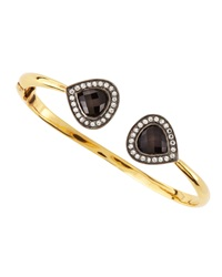 Devon Leigh White Topaz Pave Black Onyx Bangle