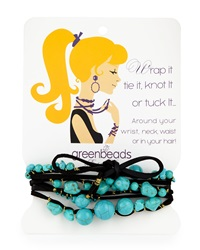 Greenbeads By Emily And Ashley Beaded Multi Wrap Bracelet Black Turquoise