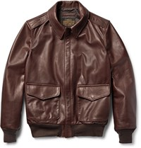 Schott A 2 Full Grain Leather Bomber Jacket Chocolate