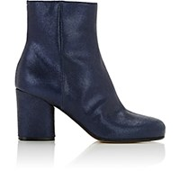 Maison Martin Margiela Women's Metallic Suede Ankle Boots Navy