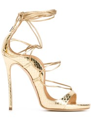 Dsquared2 Strappy Sandals Metallic