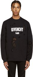 Givenchy Black Destroyed Pullover