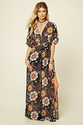 Forever 21 Smocked Waist Floral Maxi Dress