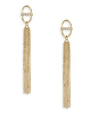 Robert Rose Golden Link And Tassel Earrings