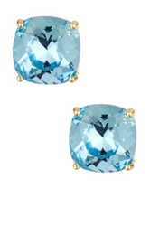 Candela Aquamarine Swarovski Crystal Stud Earrings Blue