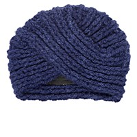 The Elder Statesman Women's Cashmere Turban Blue