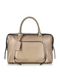 Dkny Greenwich Natural Leather Large Satchel Bag Beige
