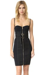 Dsquared Military Bustier Dress Black