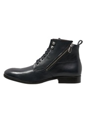 Paul And Joe Solda Laceup Boots Navy Dark Blue