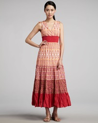Indikka Printed Tiered Maxi Dress Medium