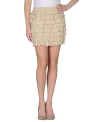 Love Moschino Mini Skirts Sand