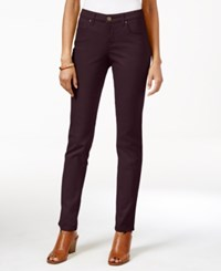 Styleandco. Style Co. Curvy Fit Colored Wash Skinny Jeans Only At Macy's Deep Scarlet
