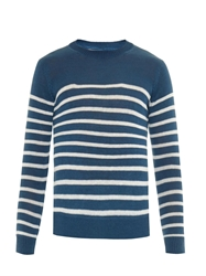 Gieves And Hawkes Breton Stripe Linen Sweater