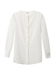 Freda Erin Cotton And Silk Blend Blouse