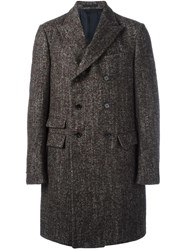 Ermenegildo Zegna Double Breasted Coat Brown