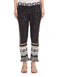 Tamrita Fringe And Sequin Pants Black