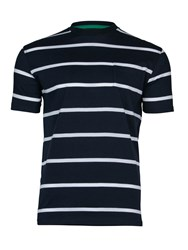 Raging Bull Breton Stripe T Shirt Navy