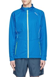 2Xu 'Membrane' Reflective Geometric Print Performance Jacket Blue