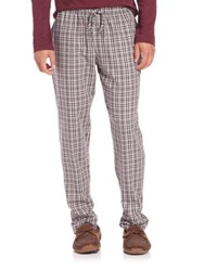 Hanro Plaid Flannel Lounge Pants Red Multi