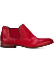 Pantanetti Elasticated Panel Ankle Boots Red