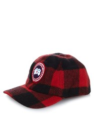 Canada Goose Plaid Wool Blend Hat
