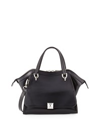 Charles Jourdan Oksana 2 Leather Satchel Bag Black