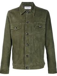 Officine Generale Suede Jacket Green