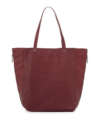 Neiman Marcus Perforated Side Zip Tote Bag Bordeaux