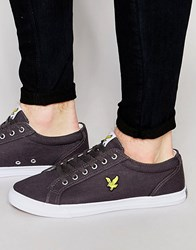 Lyle And Scott Halket Plimsolls In Canvas Grey