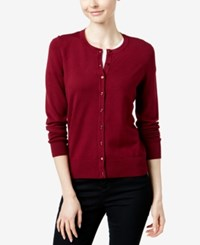 Charter Club Long Sleeve Cardigan Only At Macy's Cranberry