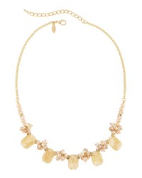 Emily And Ashley Greenbeads By Emily And Ashley Golden Neutral Beaded Statement Necklace Women's
