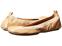 Yosi Samra Samara Soft Patent Leather Fold Up Flat Nude Women's Flat Shoes Beige