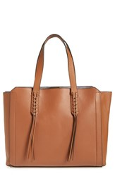 Ivanka Trump 'Soho Solutions' Leather Work Tote With Battery Charging Pack Brown Saddle