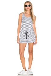 Michael Stars Playa Stripe Tank Romper White