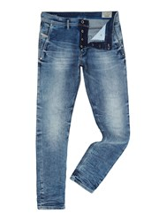 Diesel Kakee 853I Slim Carrot Fit Light Wash Acid Jeans Denim Light Wash
