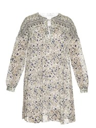 See By Chloe Floral Print Cotton Dress White Multi