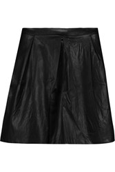 Tart Collections Evangeline Pleated Faux Leather Mini Skirt Black