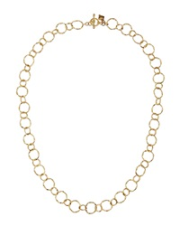 Armenta 18K Yellow Gold Circle Link Necklace 18'L