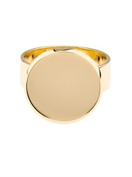 Dina Kamal Dk01 Yellow Gold Flat Coin Ring