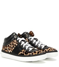 Jimmy Choo Bells Printed Calf Hair And Leather Sneakers Multicoloured