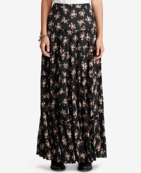 Denim And Supply Ralph Lauren Floral Print Tiered Maxiskirt Floral Multi