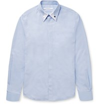 Givenchy Star Embellished Cotton Shirt Blue