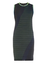 Alexander Wang Striped Technical Knit Dress