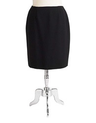 Jones New York Plus Plus Pencil Skirt Black
