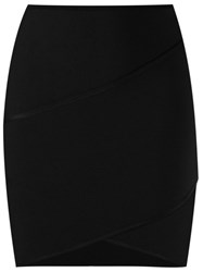 Giuliana Romanno Knit Short Skirt Black
