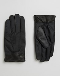 Ted Baker Gloves With Leather Cuff Black