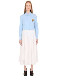 Gucci Embroidered Patch Cotton Poplin Shirt
