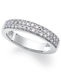 Macy's Sterling Silver Ring White Diamond Stackable Ring 1 2 Ct. T.W.